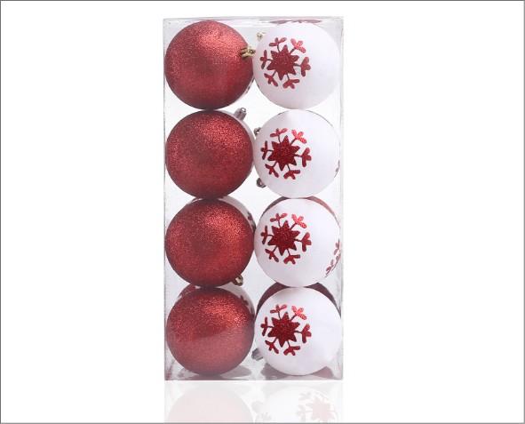 Czerwone i białe bombki