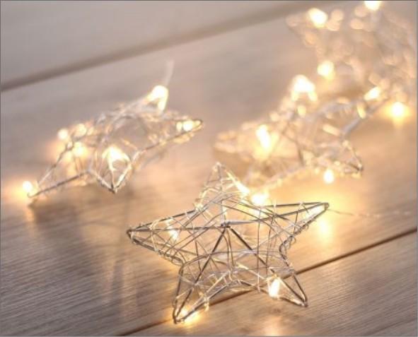 Lampki LED w kształcie gwiazdek