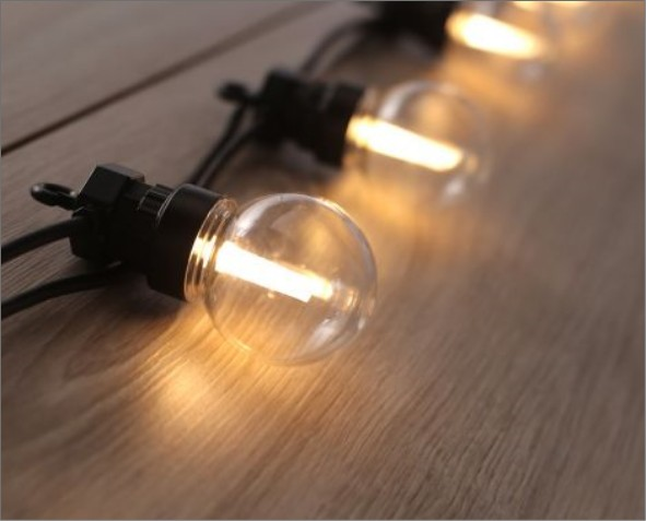 Lampki LED w kształcie żarówek