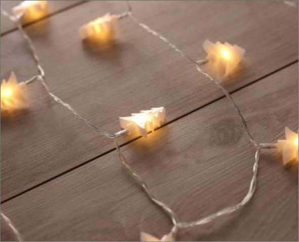 Lampki LED w kształcie choinki