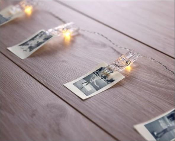 Ozdoby LED spinacze